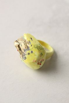 Super cute yellow craggy ring. Too bad they're sold out of my ring size.