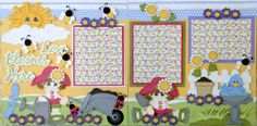 2 12x12 Premade Pages Love Blooms Here Paper Piecing Albums DANDERSON651 | eBay