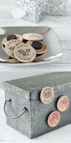 Personalized wooden wedding magnets are the perfect keepsake for the bride and groom, and all of their wedding guests! Magnets also make great wedding décor, and can also be sent along with save the dates!
