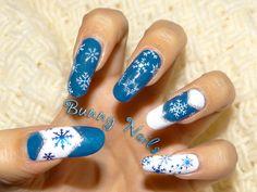 Bunny Nails: Snowflake Christmas Nail Art