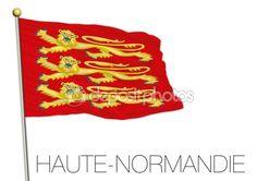 Bandiera regionale di alta Normandia, Francia — Vettoriali Stock © frizio…