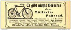 Original-Werbung/Inserat/ Anzeige 1905 - MÜLLARIA-FAHRRAD / MÜLLER MÜNCHEN - ca. 90 X 40 mm