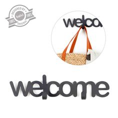 Percha Pared Welcome. www.tatamba.com