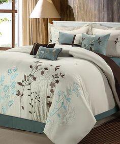 Look what I found on #zulily! Beige Bliss Garden Comforter Set #zulilyfinds