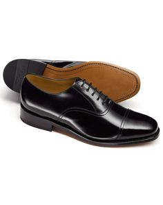 Black Bennett toe cap Oxford shoes
