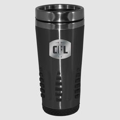 Lasered CFL Logo Huntsville Travel Mug / Tasse de voyage Huntsville de la LCF. 16oz travel mug with stainless steel inner, featuring full wrap graphic design.  Be bold in your support of the CFL with a HUSTLE travel mug. Full wrap design includes NEW Canadian Football League logo. Canadian Football League, Travel Mug, Hustle, Stainless Steel, Graphic Design, Mugs, Tableware, Collection, Travel