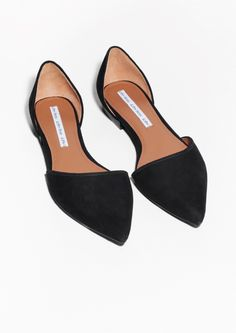 & Other Stories   Pointy Suede Flats