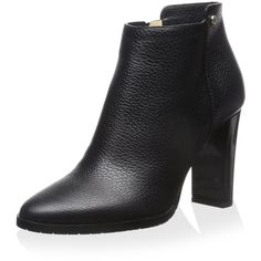 Jimmy Choo Women's Hart Ankle Bootie ($877) ❤ liked on Polyvore featuring shoes, boots, ankle booties, side zip boots, wide booties, full grain leather boots, side zip ankle boots and wide ankle boots
