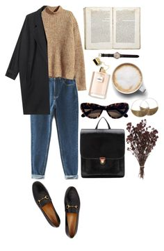 """autumn coffee dates"" by rsussher ❤ liked on Polyvore featuring H&M, Hstyle, Tom Ford, Jayson Home, Gucci, Shinola and Lila Rice"