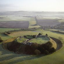 Old Sarum Hill, near Salisbury, UK- a very interesting site that people surpass due to Stonehenge, but it is definitely got a great history to indulge