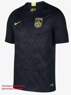 c3e0ea0a6 China 2018 2019 Black Nike Away Football Kit