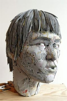 Artist, Scott Fife. Made of cardboard, screws, and glue. Incredible!