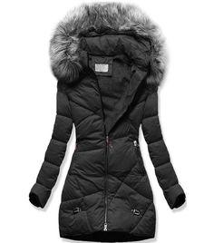 Dámska zimná bunda B2647 čierna - Bundy - MODOVO Winter Jackets, Coats, Fashion, Winter Coats, Moda, Wraps, Winter Vest Outfits, Fashion Styles, Coat