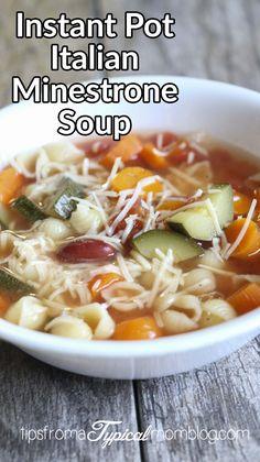 Instant Pot Italian Minestrone Soup