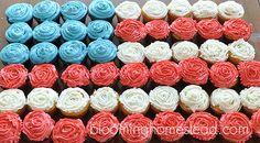 Patriotic Cupcake Set-up