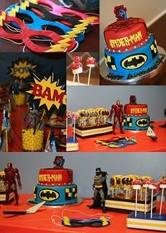 Super hero party ideas for Landons 5th birthday party