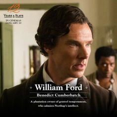 """In Britain, """"12 Years a Slave"""" posters star…Benedict Cumberbatch."""