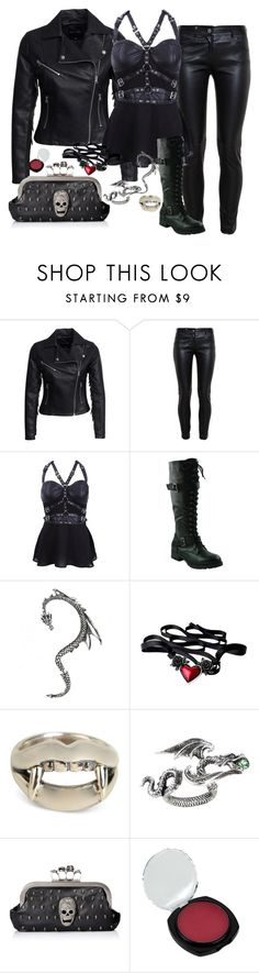 """""""The Raven and The Writing Desk"""" by thehelsinghatter ❤ liked on Polyvore featuring New Look, Balenciaga, Yohji Yamamoto, women's clothing, women, female, woman, misses and juniors"""