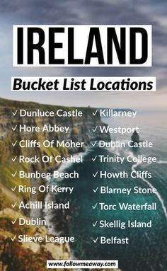 Ireland Travel Guide, Travel List, Travel Guides, Travel Hacks, Vacation Travel, Traveling To Ireland, Budget Travel, Backpacking Ireland, Traveling Europe