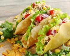 Tacos de crudités aux miettes de crabe sans vaisselle