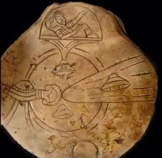Here is another ancient Mayan depiction of UFOs entering and exiting through the Sun. There even showed a close up of an ancient astronaut in his craft