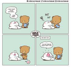 Cute Love Memes, Cute Love Gif, Cute Quotes, Cute Images, Cute Pictures, Cute Bear Drawings, Love Cartoon Couple, Chibi Cat, Comics Love