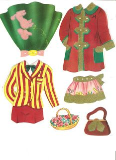 (⑅ ॣ•͈ᴗ•͈ ॣ)♡                                                             ✄Miss Missy Paper Dolls: Polly Molly and Their Dolls 1958