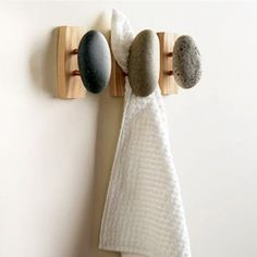 Zen Spa Stone and Wood Bathroom Hooks These are just my style and would look great in the beach theme house...in my head.