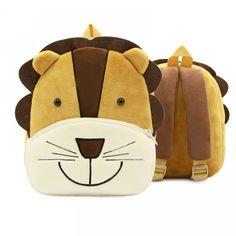 New Animal Cartoon Kids Plush Backpack Schoolbags Satchel Infant Mini School Bag for Children Kindergarten Boys Girls Baby Bags