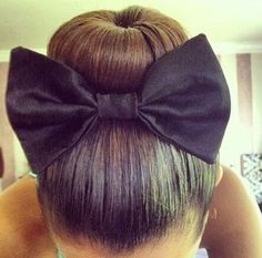 Bun with bow