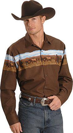 Cowboy Outfit For Men, Cowboy Outfits, Western Outfits, Western Shirts, Western Wear, Western Style, Mens Vintage Shirts, Vintage Men, Hippie Men
