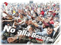 """Campagne Informative e di Sensibilizzazione """"No alla Bossi-Fini e Si alla chiusura dei CIE"""" - https://www.facebook.com/Foundation4Africa/photos/a.655838154488546.1073741830.655775184494843/836600846412275/?type=3&theater"""