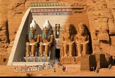 Abu simbel temple. The Past and present.
