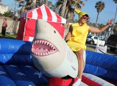 Mechanical Shark Rental - aka I need to go to THIS party.