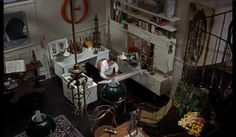 """Home office set from """"How To Murder Your Wife"""" 1965   Production design by Richard Sylbert"""
