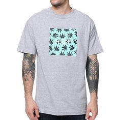 "The HUF Plantlife Box Logo tee shirt for guys in the all heather grey color way is here to add a herbal touch to your wardrobe. This standard fit guys heather grey short sleeve tee features a custom mint and black box HUF logo with weed print and custom ""HUF"" white lettering printed inside. The HUF Plantlife heather grey tee shirt will help take the edge off of deciding what shirt to grab."