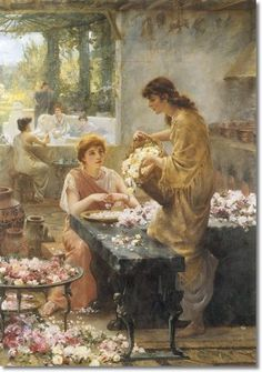 Making Attar of Roses in an Ancient Greek Temple by Arthur Drummond,1894.
