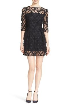 Free shipping and returns on Milly 'Celia' Embroidered Tulle Minidress at Nordstrom.com. Eyelash-tipped embroidered dots and raw-edge lattice appliqués add exuberant texture to a charming tulle minidress left sheer at the yokes, sleeves and hem for an alluring touch.