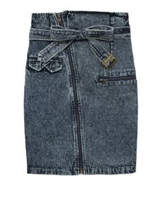 c68a51f511f Acid Wash Denim Pencil Skirt! Shut up! I m getting this!