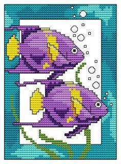 4x4 Tropical Fish - DIGI CROSS STITCH