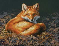 CS-650 cross stitch kit fox DIM 35318.jpg