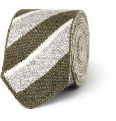 BoglioliStriped Knitted Cashmere Tie