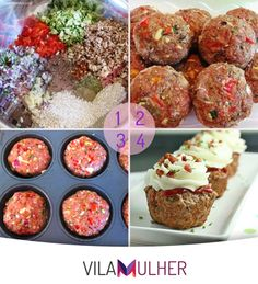 Almondega em formato de muffin #meat #carne #cake #eat #food