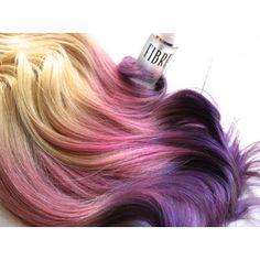 hair extensions dipped in purple haze and pink, Lauren Conrad, Dip Dye Pink Purple Hair, Blonde With Pink, Pastel Hair, Purple Haze, Purple Ombre, Blonde Dip Dye, Ombre Blond, Ombre Human Hair Extensions, Hair Color Asian