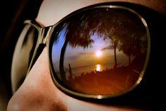 Zanzibar sunglass sunset