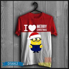 """T-shirt Pria I Love Merry Christmas Kode : DS662  Harga :  Size :  S : 85.000  M : 85.000  L : 85.000  XL : 90.000  XXL: 95.000  Grosir ada Diskon Khusus. untuk pengambilan 3 pasang keatas boleh campur.  **Lama pengerjaan baju membutuhkan waktu 2-3 hari setelah proses transfer  Bahan : Cotton Combed  ====================   yukk order dengan sms kami di 085288202838 atau bbm di 23663f82 """"DICARI RESELLER DAN DISTRIBUTOR DI INDONESIA"""""""