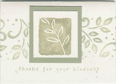 Mellow Leaf  Stampin Up - All I Have Seen