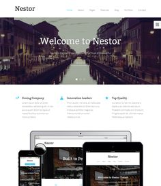 This parallax Drupal template offers a one page design, a responsive ...