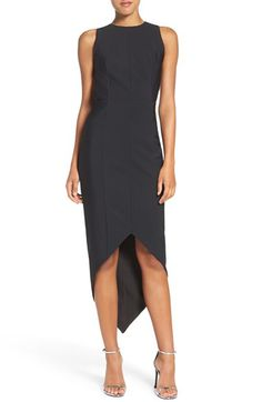 MISHA COLLECTION Misha Collection 'Siran' Backless Asymmetrical High/Low Dress available at #Nordstrom