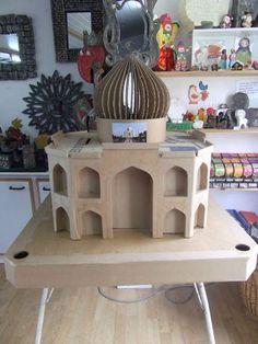DSCF4266 (2) Recycled Crafts, Diy Crafts, Pillars Of Islam, Cardboard Design, Paper Towel Rolls, Driftwood Crafts, 3d Puzzles, Miniature Crafts, Eid